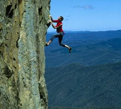 Sport climbing at Mt Coree